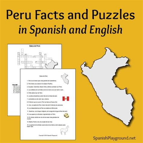 peru facts  puzzles  spanish  english spanish