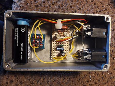 Tonebender Vox Italian Tone Bender Clone Fuzz Pedal Silver