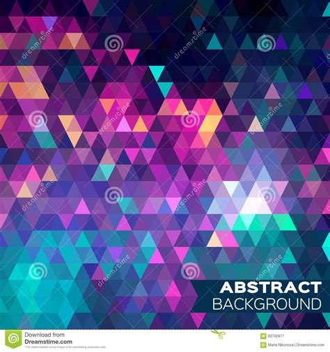 abstract colorful geometric triangles background stock