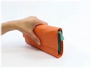 Orange Et Vert Dunkerque : compagnon en cuir bicolore orange et vert tr s pratique ~ Dailycaller-alerts.com Idées de Décoration