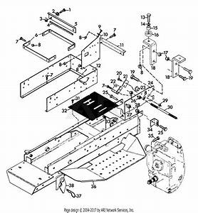 Gravely 45541 16hp  With Hydraulic Lift Parts Diagram For