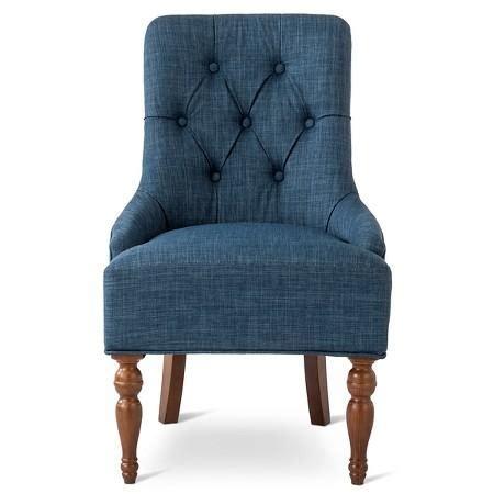 light blue velvet button tufted arm chair