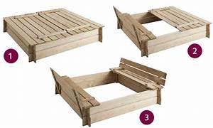Bac à Sable Bois : bac sable en bois carr bancs int gr s jardipolys ~ Premium-room.com Idées de Décoration