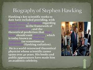 PPT - STEPHEN HAWKING PowerPoint Presentation - ID:2608844