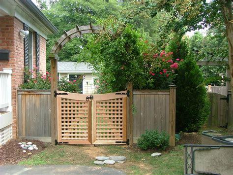 cedar fence 9 cedar lattice gate and arbor