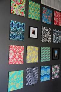 Best ideas about fabric covered canvas on