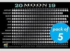 2019 Moon Calendar Card 5 pack Workman Publishing