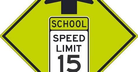 School Speed Limit With Arrow, National Marker Tmdg