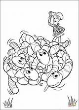 Coloring Worms Pages Printable Story Toy Cartoon Sheets Drawing Through sketch template