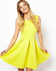 8 best skater dresses to show off your legs With robe jaune fluo