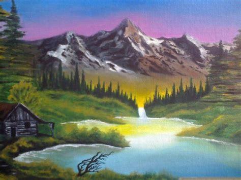 Bob Ross Landscape By Asiulsagrav.deviantart.com On