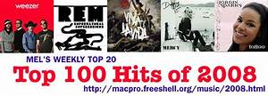 Melu002639s Weekly Top 20 Top 100 Hits Of 2008
