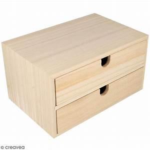 Casier A Tiroir : meuble casier tiroirs en bois brut 2 tiroirs 23 5 x 15 5 x 12 5 cm meuble d corer ~ Teatrodelosmanantiales.com Idées de Décoration