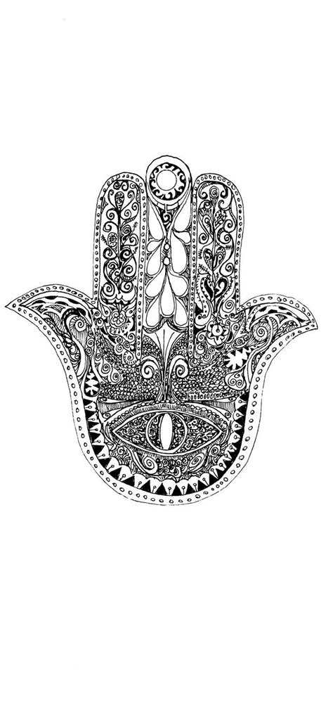 65 best Hamsa Eye Coloring Pages images on Pinterest | Hamsa design, Tattoo ideas and Fatima hand
