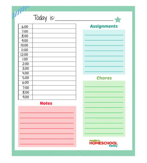 template net day planner template word printable planner template