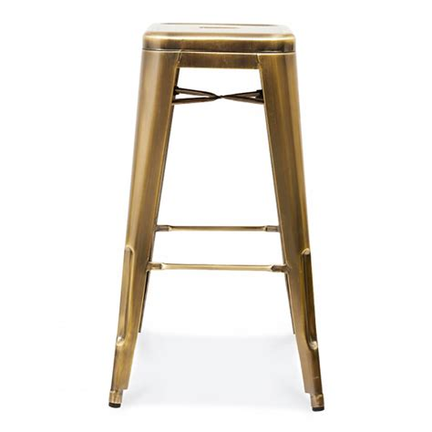 metal counter stools gold or silver brass metal bar stool by cielshop