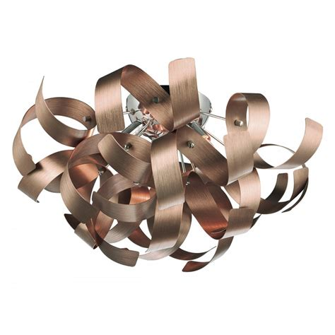 Spotlights For Ceilings by Decorative Modern Flush Ceiling Light With Copper Ribbon