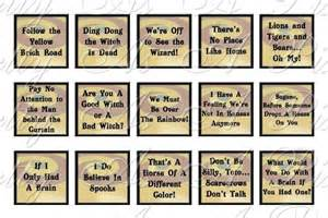 Printable Scrabble Tile Images by Wizard Of Oz Quotes Sampler Size 3 Sizes Inchies 7 8
