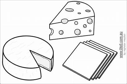 Cheese Templates Coloring French Pages Template Eating