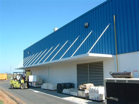 rusco canopies extruded aluminum storefront entryway  loading dock covers  manufacturing