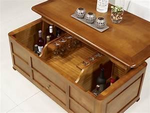 Table Bar Bois : table basse bar ine en merisier de style louis philippe meuble en merisier massif ~ Teatrodelosmanantiales.com Idées de Décoration