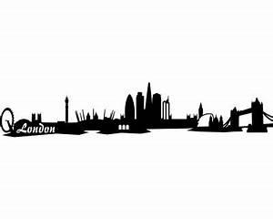 London Skyline Schwarz Weiß : wandtattoo london skyline wandaufkleber wandsticker viele farben und gr en sofort lieferbar ~ Watch28wear.com Haus und Dekorationen
