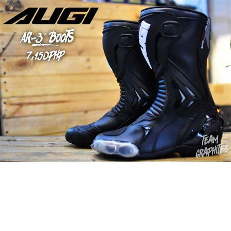 AUGI BOOTS AR3 BLACK | Shopee Philippines