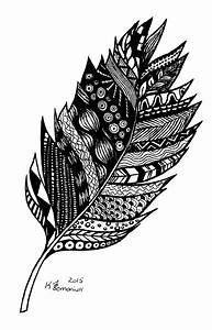 Aztec Feather Drawing by Kayleigh Semeniuk