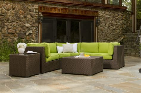 sectional outdoor furniture outdoor wicker sectional