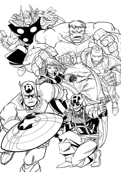 21 best images about avengers disegni da colorare on