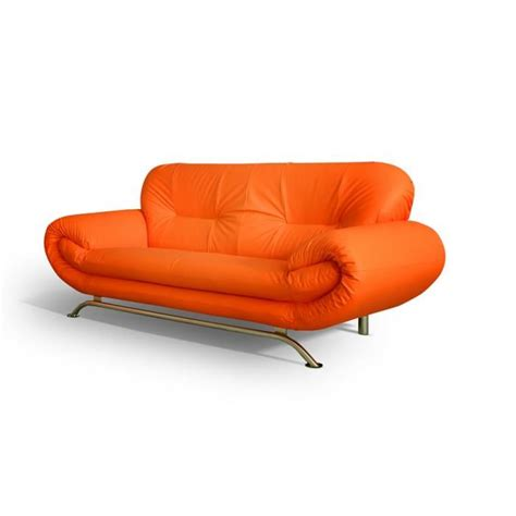 canapé orange canapé 3 places ameliane orange achat vente canapé