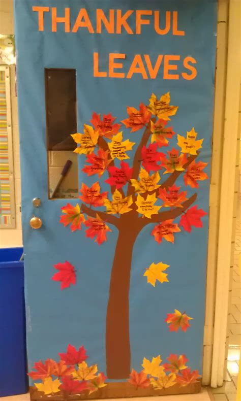 Thanksgiving Classroom Door Decorations by Parrot Tree Classroom Door Decoration Tree Classroom Door