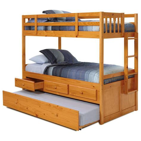 bunk bed with trundle desk and storage twin mission storage bunk bed trundle unit honey finish