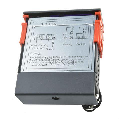 stc 1000 digital temperature controller temp sensor thermostat 220 240v ebay