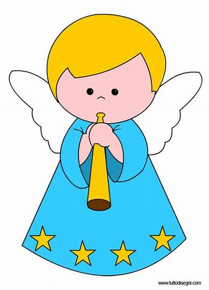 Angel Angelo Angels Clipart Printable Suona Natale