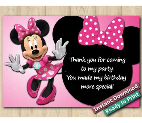 disney minnie mouse   card  diy printables