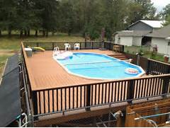 Swimming Pool Ideas With Deck Decorating Swimming Pool Deck Design Ideas For Backyard With Wood