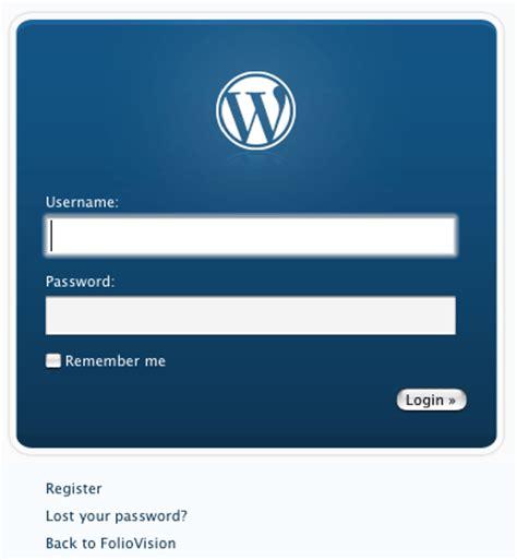 redesign  wordpress login   plugin