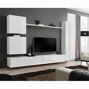 Meuble Design Tv Mural : meuble tv mural design switch viii 280cm blanc ~ Teatrodelosmanantiales.com Idées de Décoration