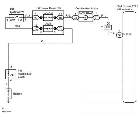 Abs Warning Light Circuit Description Toyota