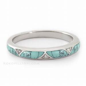 quotstormy sky passagequot women39s matrix turquoise wedding band With turquoise wedding rings for women