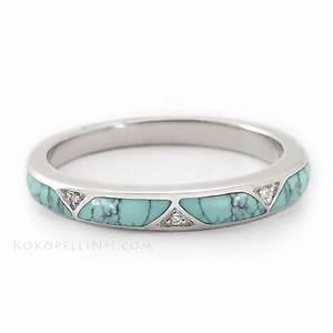 quotstormy sky passagequot women39s matrix turquoise wedding band With womens turquoise wedding rings