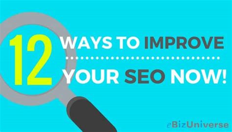 Increase Seo by 12 Ways To Improve Seo For A Website Seo Basics For