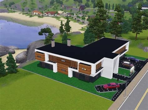 les sims 3 maison moderne maison individuelle moderne sims 3 cr 233 ation architectural