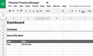 cryptocurrency personal finance management with coinbase With google docs spreadsheet scripts