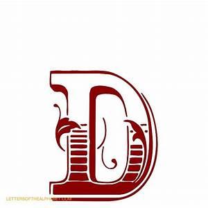 decorative wood type alphabet letters With decorative letter d