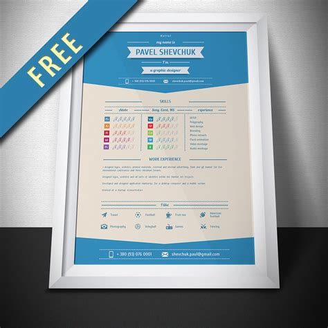 Mock Up Resumes by Free Vector Cv Resume Mock Up On Behance
