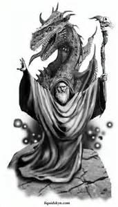 Wizard Dragon Tattoo Designs
