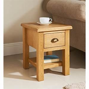 BM Wiltshire Oak Lamp Table 319205 BM