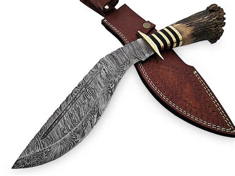 impact knives custom handmade damascus kukri knife